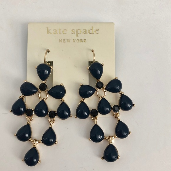 Kate spade jewelry nwt navy blue chandelier earrings poshmark nwt kate spade navy blue chandelier earrings aloadofball Image collections